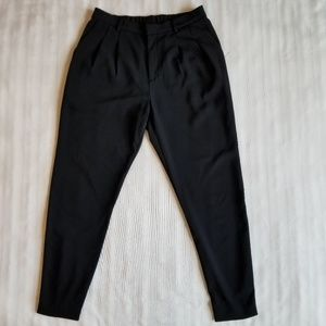 Uniqlo pants with elastic back & pleated front